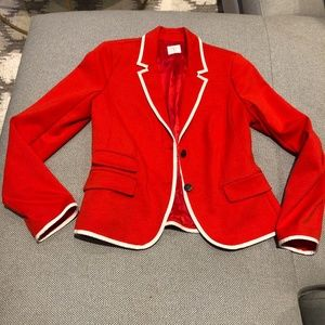 women's red blazer Gap Academy